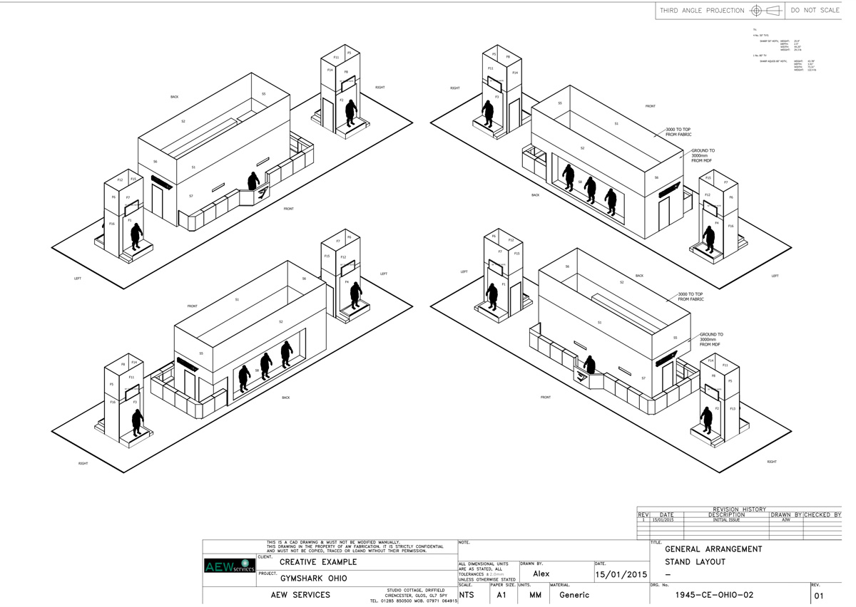 We worked with Creative Example to produce AutoCad drawings from graphical models.